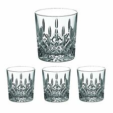 Galway Crystal Longford Pattern  Double Old Fashion Glasses Set of 4
