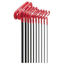 "Eklind 53910 10 Piece 9"" SAE Cushion Grip T-Handle Hex Key Set"