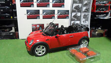 MINI COOPER Cabriolet Convertible Rouge Red 1/12 KYOSHO 08605R voiture miniature