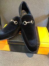 NEW La Milano Black Loafer Men's Dress Velvet Shoes Size 13