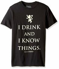 Mens Game Of Thrones I Drink And I Know Things Shirt New S