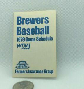 1979 Milwaukee Brewers Baseball Schedule Farmers Insurance