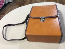 """Vintage Camera Case Brown Leather 6"""" x 9"""" x 2 1/2"""""""