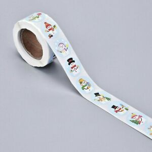 Christmas/Winter - Self Adhesive Labels on a Roll 25mm - 500 labels (1 roll)