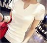 Women Ladies Summer Short Sleeve Cotton T-shirt Girl Casual Blouse Tops Shirt