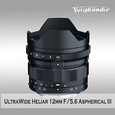 Voigtlander ULTRA WIDE-HELIAR 12mm F5.6 Aspherical III to E mount A7RII A7SII