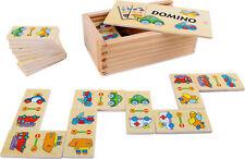 Legler Domino Fahrzeuge Dominospiel Dominosteine Kinderspiel Legespiel Holz