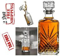 Whiskey Crystal Decanter Glass Luxury Elegant Drink Bourbon Wine Scotch Decanter