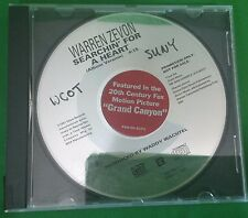 Warren Zevon Searching For A Heart CD Single Promo Radio Station Copy