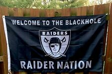 Oakland Raiders Flag Large Indoor Outdoor Banner 3 X 5' RAIDER NATION BLACKHOLE