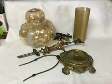 Vintage Brass Metal Electric Lamp Parts All From Same Lamp Accurate Casting Co.