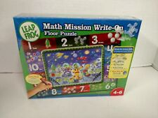 Leap Frog Math Mission Write-On Floor Puzzle Homeschool Kids Activity NEW