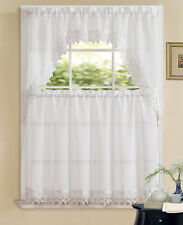 Regal Home Allison Macrame Kitchen Curtain Tier & Swag Set - Assorted Colors