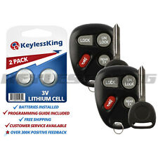 2 Replacement Remote Key Fob Set for 1998 1999 2000 2001 Chevy Blazer