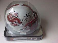 North Carolina State John McCargo Bills Draft Pick Autograph Schutt Mini Helmet