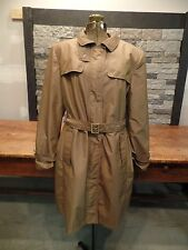 Gallery Trench Coat Rain Coat Nylon/Poly Satin Feel Women's  Size Large Nice!