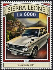 1966 TOYOTA COROLLA E10 First Generation Classic Car Stamp (2016 Sierra Leone)