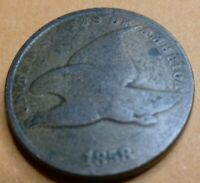 1858 SL Flying Eagle  Cent  Coin  #DS58-2