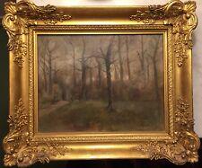 MERE Clément E. (1861-1940) Huile Toile Paysage Arbres Bois Bretagne Pays Basque