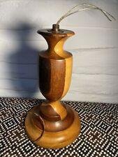 Beautiful Retro Wooden Lamp Base (Needs Rewiring)