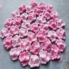 36 EDIBLE SUGAR PASTE FONDANT FRANGIPANI PLUMERIA FLOWERS CAKE TOPPERS