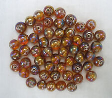 50grams of ROUND BROWN LUSTRE GLASS BEADS 9.5mm