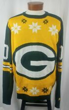 NFL Team Apparel Green Bay Packers Sweater Green Gold White Acrylic XL