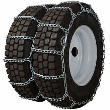 275/75-22.5 275/75R22.5 Dual Tire Chains 7mm Link Cam Snow Traction Ice Truck