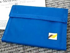 Vintage Blue Nylon Wallet with Velcro Merit Cigarettes Logo NEW IN PROMO PACKAGE