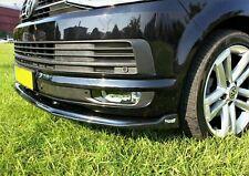 VW TRANSPORTER T6 2015> LOWER FRONT ABS BLACK SPLITTER SPOILER BUMPER LIP ADD ON