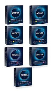 Preservativi 3 pz MY.SIZE profilattici in lattice per pene condom lubrificati