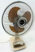 """Vintage GALAXY Tested Working 2 Speed Oscillating 9"""" Blade Electric Desk Fan"""