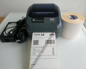 Zebra GX420d Thermal Label Printer with  Charger USB Cable 500 Labels  587