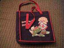 VINTAGE Strawberry Shortcake Carrying Tote Bag - Rayon/PVC