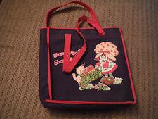VINTAGE Strawberry Shortcake Carrying Tote Bag - Rayon/PVC