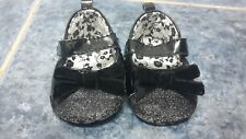 Baby girl black party shoes size 3-6 mths by Matalan