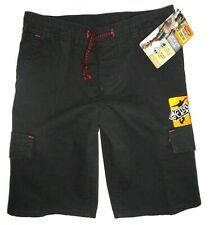 NWT Wrangler Boys Advanced Comfort Straight Cargo Shorts BLACK Kids Youth M (8)