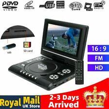 7.8inch 16:9 HD TV Portable DVD Player LCD 270° Swivel Screen + Remote Control