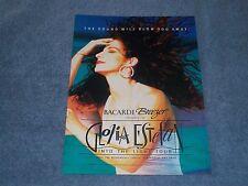 "1991 Gloria Estefan Into the Light Tour Magazine Ad ""Sound Will Blow You Away"""