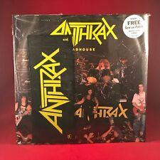 """ANTHRAX maison de fous 1986 UK 3-TRACK 12"""" SINGLE + Bonus patch excellent état"""