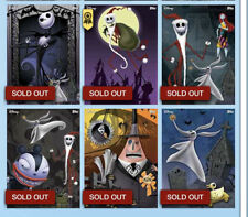 Topps Disney Collect Nightmare Before Christmas Posters Set - COMPLETE w/ Award