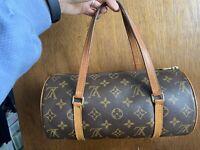 Authentic Louis Vuitton Monogram Papillon 28 Hand Bag LV