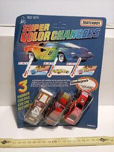 MATCHBOX SUPER COLOR CHANGERS KIT N°1 VINTAGE NEW!!!