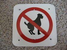 "No Dogs, Sign, Aluminum / Metal, 6"" x 6"""