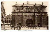 "DANZIG Gdansk Polen Reprint-Ansicht ""Aufziehen der Wache"" Postcard Poland"