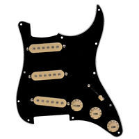 Electric Guitar Loaded Pickguard for Fender Strat Parts SSS 3 Ply Black Kmise