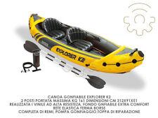 Intex canoa gonfiabile explorer k2 kajak 312 x 91 x 51 cm 2 posti max kg 160 inc
