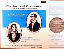 L'OISEAU-LYRE UK Weber Spohr DE PEYER Clarinet Concertos COLIN DAVIS SOL-60035