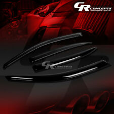 SMOKED CAR WINDOW VISOR/WIND DEFLECTOR VENT RAIN SHADE FOR 13-15 CHEVY MALIBU