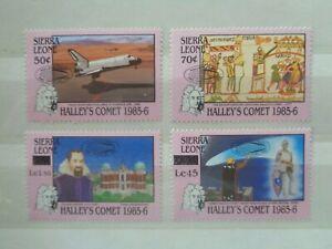 SIERRA LEONE 1986 HALLEYS COMET (2nd ISSUE) 4v MNH MINT SG988/91 CV £6.90